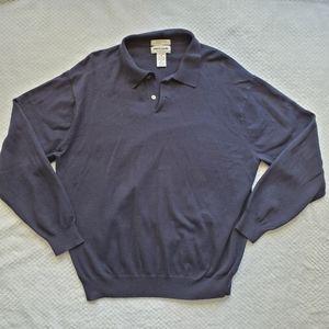 Pierre Cardin/Cashmere Blend Blue Sweater/ Size XL
